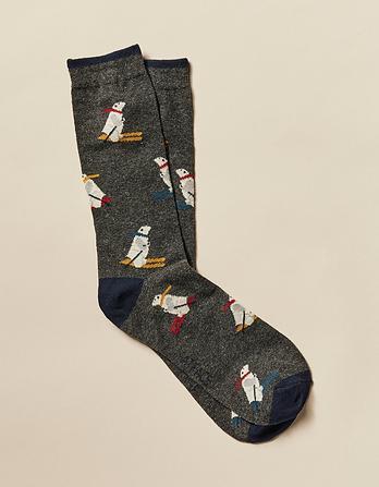 Polar Bear Socks In Bauble