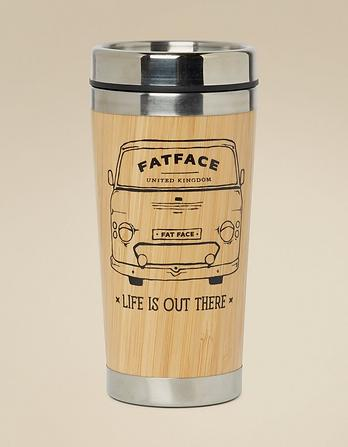 Van Wooden Wrap Travel Mug
