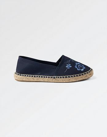 Floral Embroidered Espadrilles