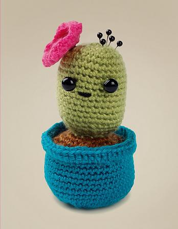 Crochet Cactus Pin Cushion Kit