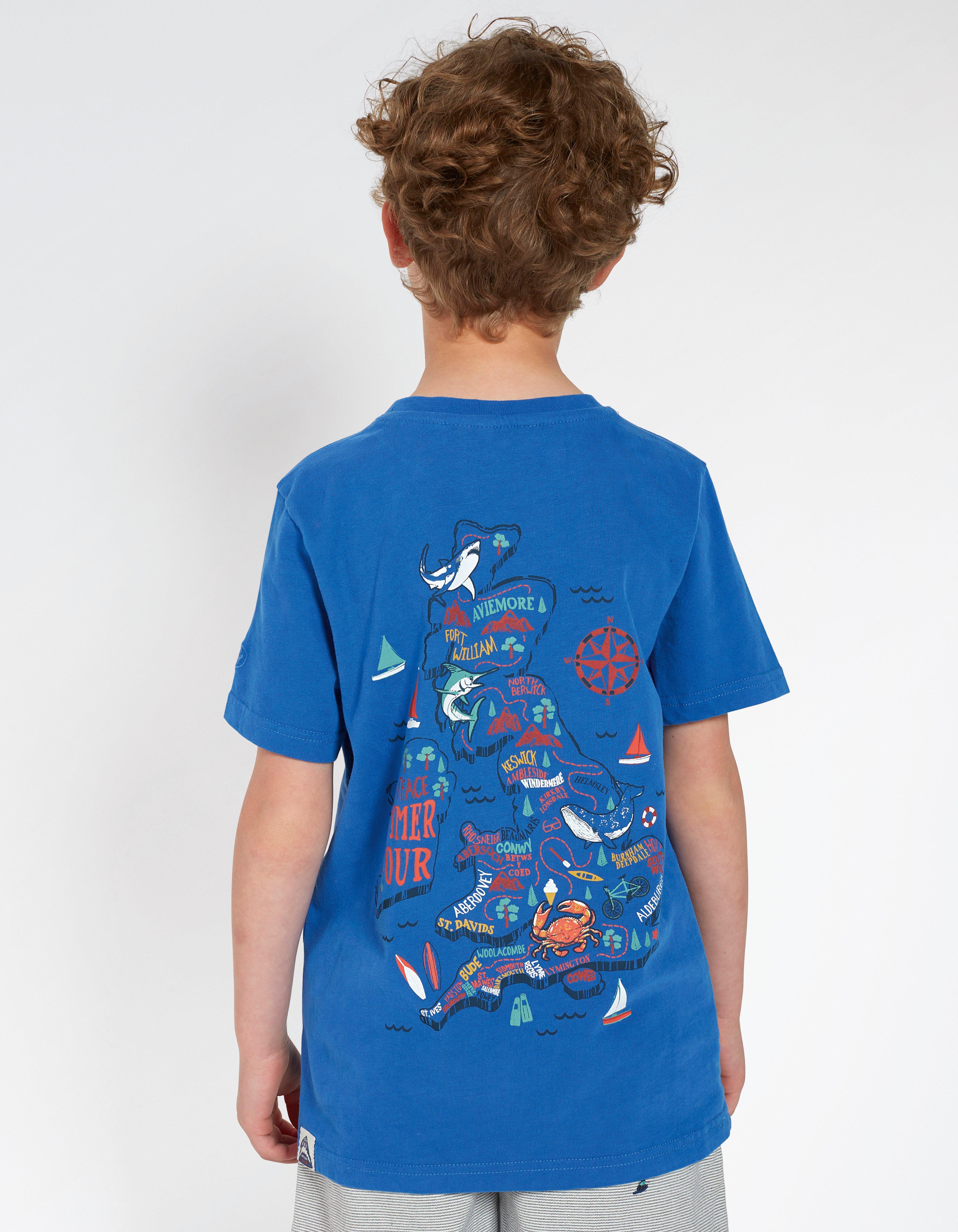 Map Print Graphic T-Shirt