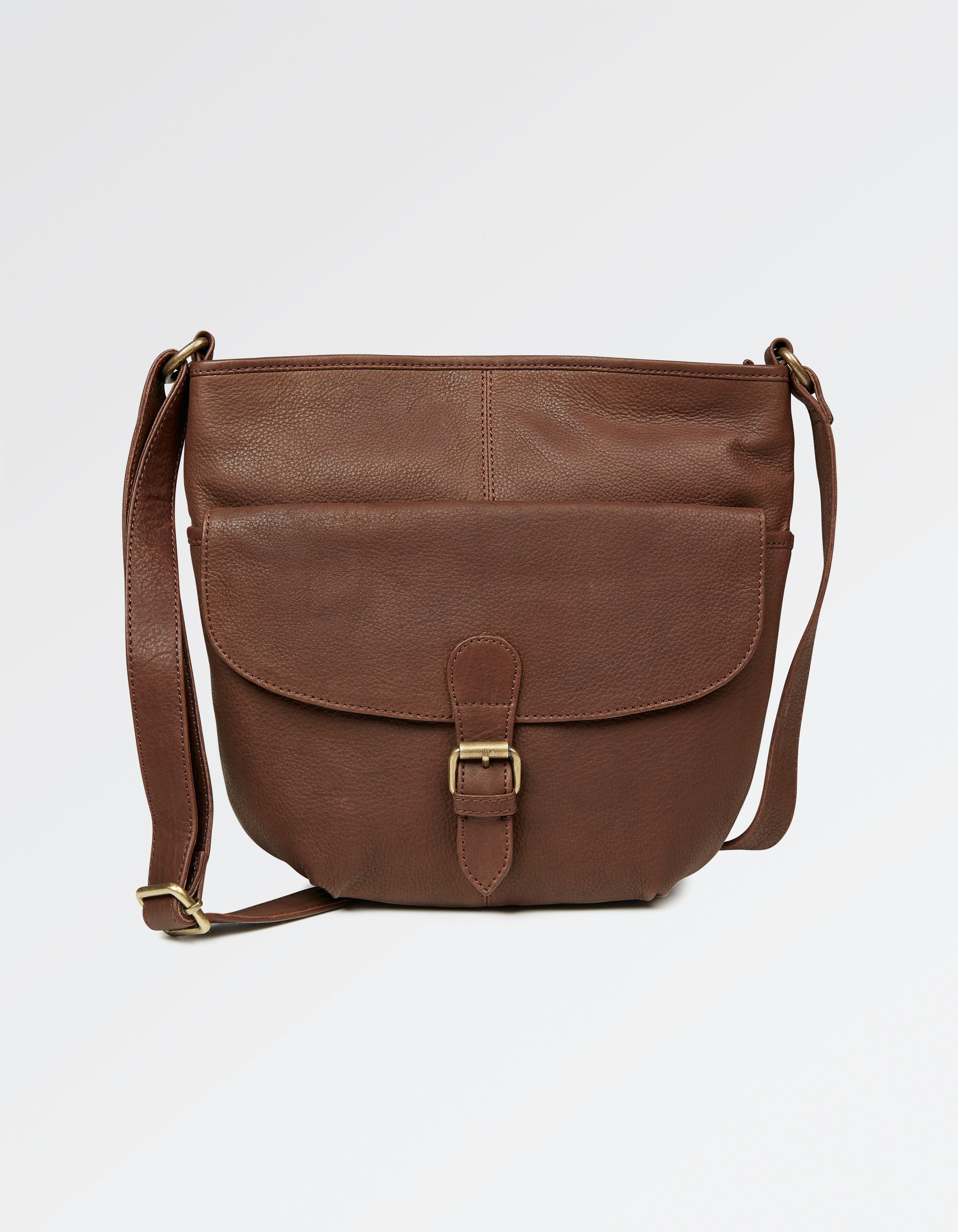 430539f8822 Leather Chocolate Cross Body Bag - FatFace Women's Bags