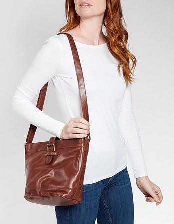 Frankie Leather Cross Body Bag