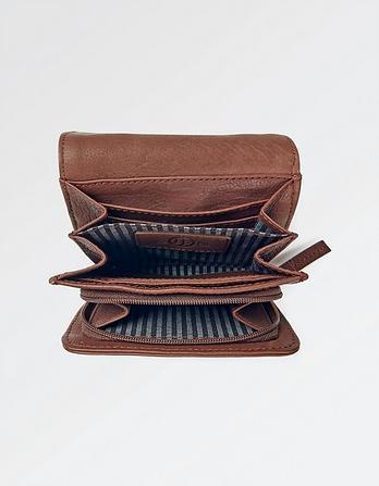 Hetti Leather Stitch Detail Wallet