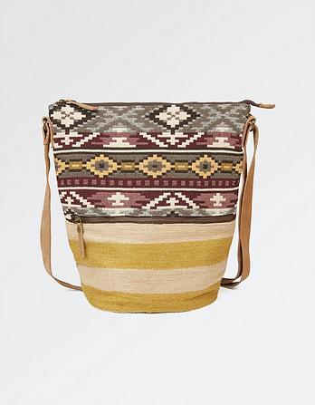 Bohemian Tia Woven Cross Body Bag