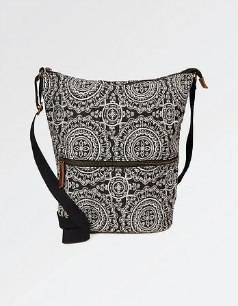 Lace Geo Canvas Tia Cross Body Bag