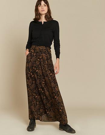 Keeley Crochet Floral Maxi Skirt