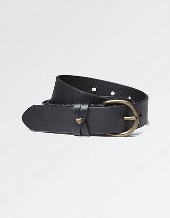 Heart Stud Leather Belt