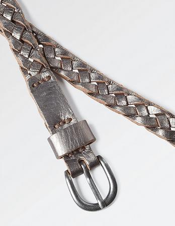 Plaited Metallic Belt