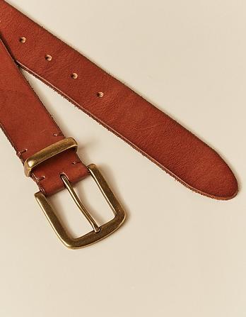 Metal Keeper Leather Belt