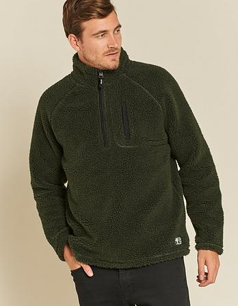 Raglan Sherpa Half Neck Fleece