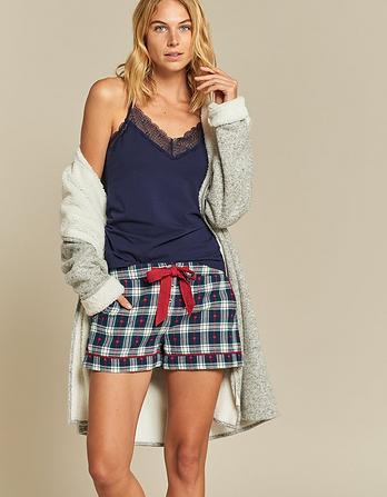 Heart Jacquard Pajama Shorts
