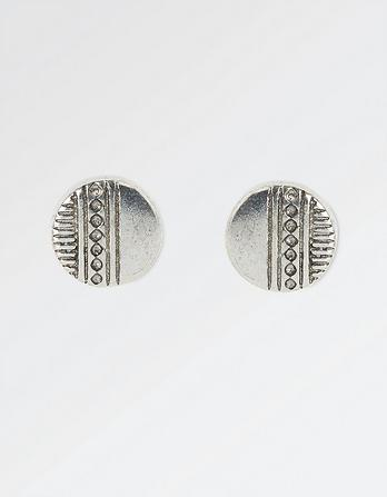 Patterned Disc Stud Earrings
