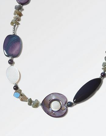 Mother of Pearl Multi Bead Long Necklace