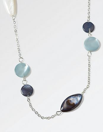 Mother of Pearl Bead Chain Long Necklace