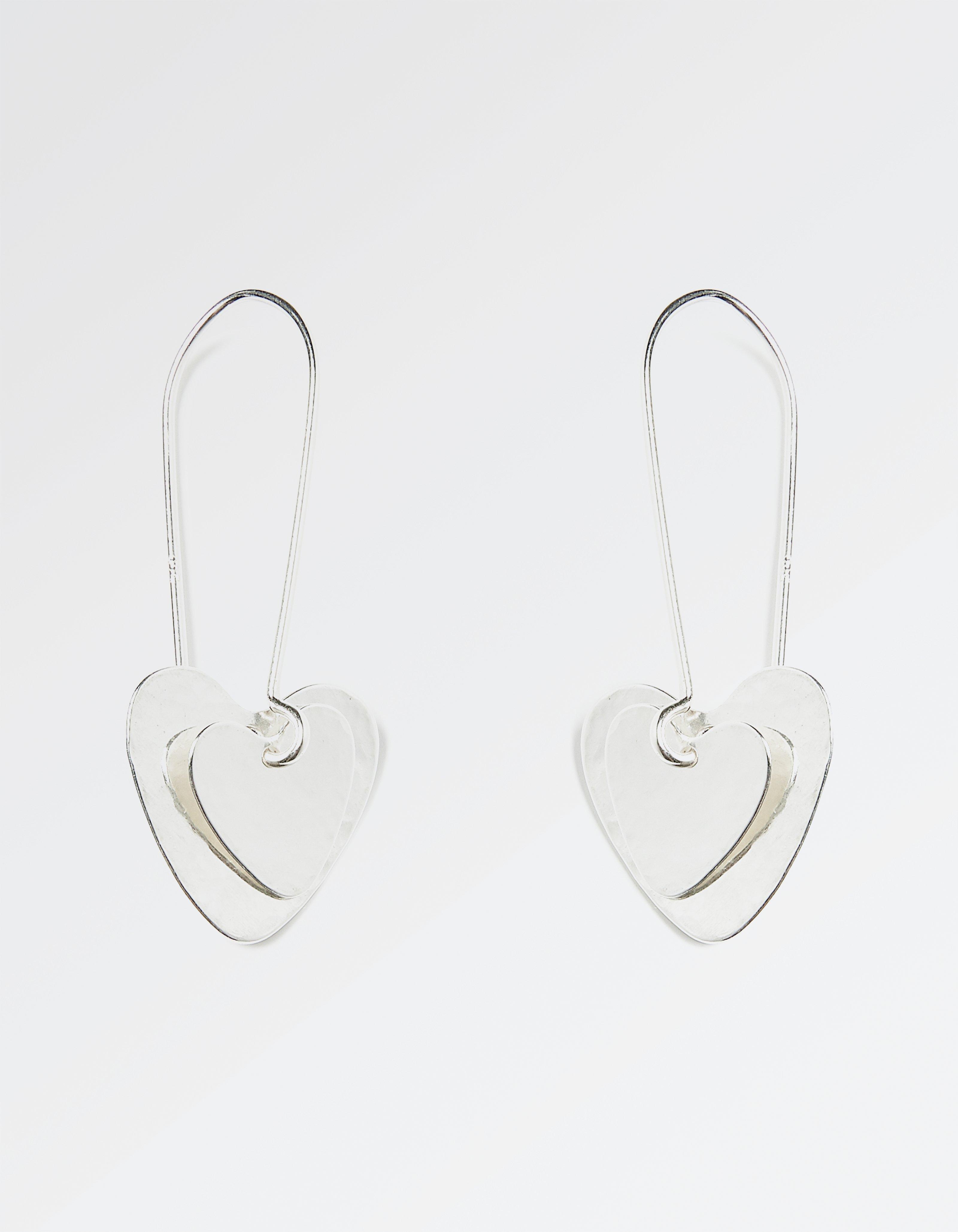 Double Heart Long Earring