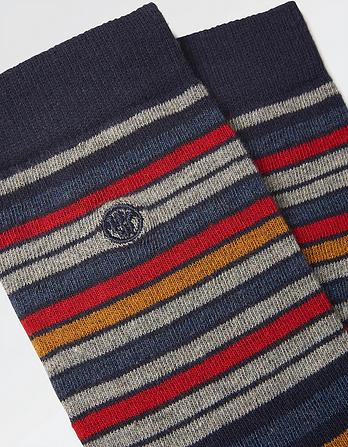 1pk Mens Rich Stripe Socks
