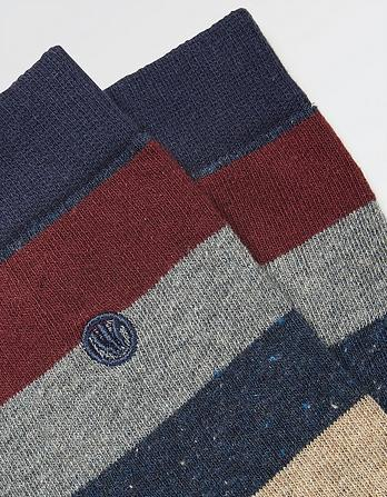 One Pack Frank Stripe Socks
