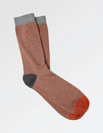 One Pack Harris Stripe Socks