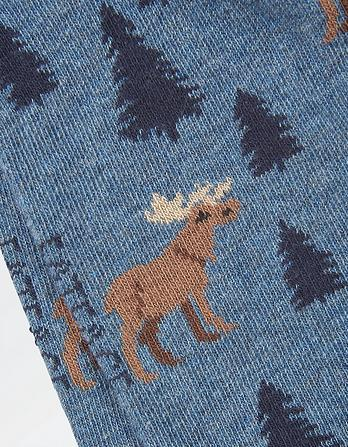 One Pack Moose Socks
