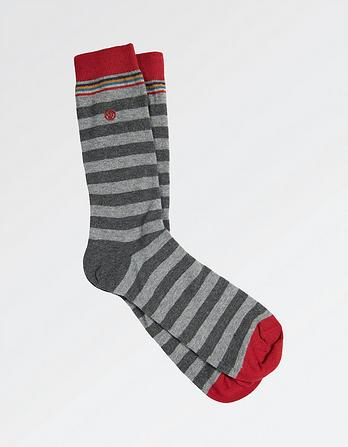 One Pack Hugh Stripe Socks