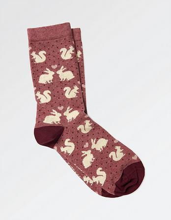 One Pack Woodland Animal Socks