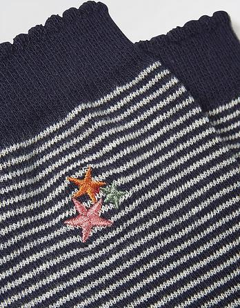 One Pack Embroidered Stars Socks