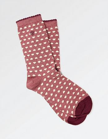One Pack Mini Hearts Socks