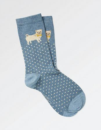 One Pack Spotty Dog Socks
