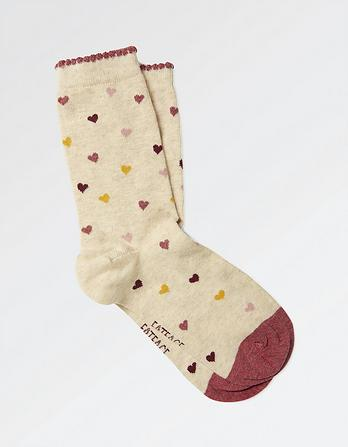 One Pack Multi Heart Socks