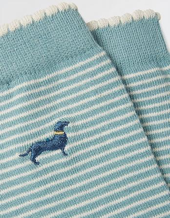 One Pack Embroidered Sausage Dog Socks