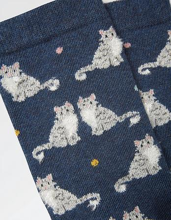 One Pack Fluffy Cat Socks