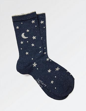 One Pack Sparkle Stars Socks