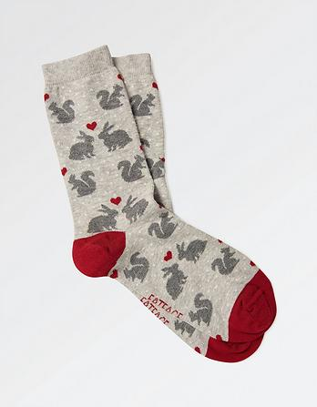 One Pack Woodland Animal Socks