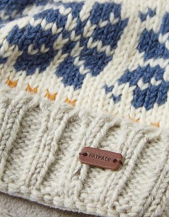 Flower Knit Beanie