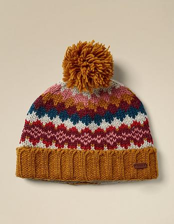 Pattern Knit Turn Up Beanie