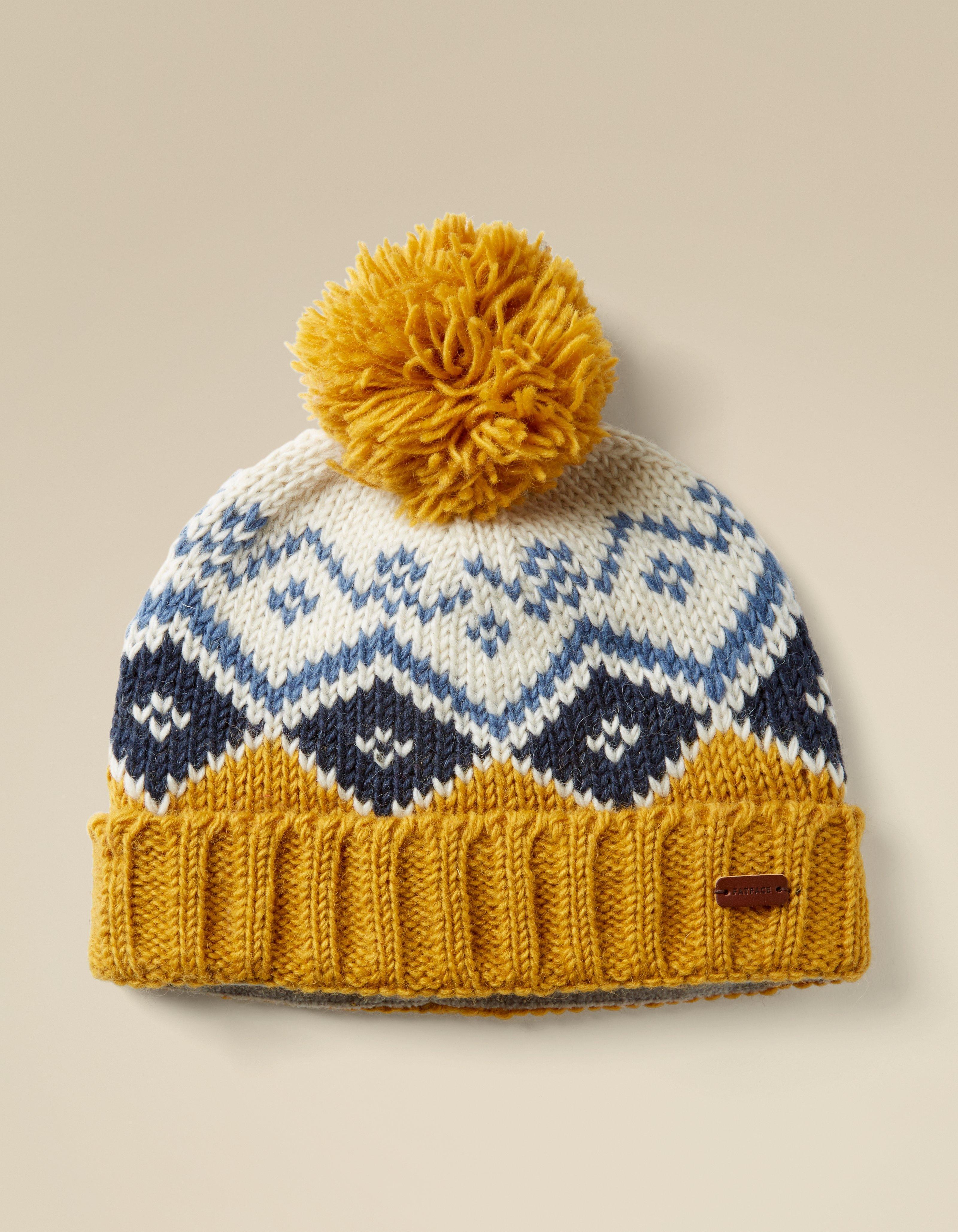 Mustard Diamond Knit Beanie a854d64509c