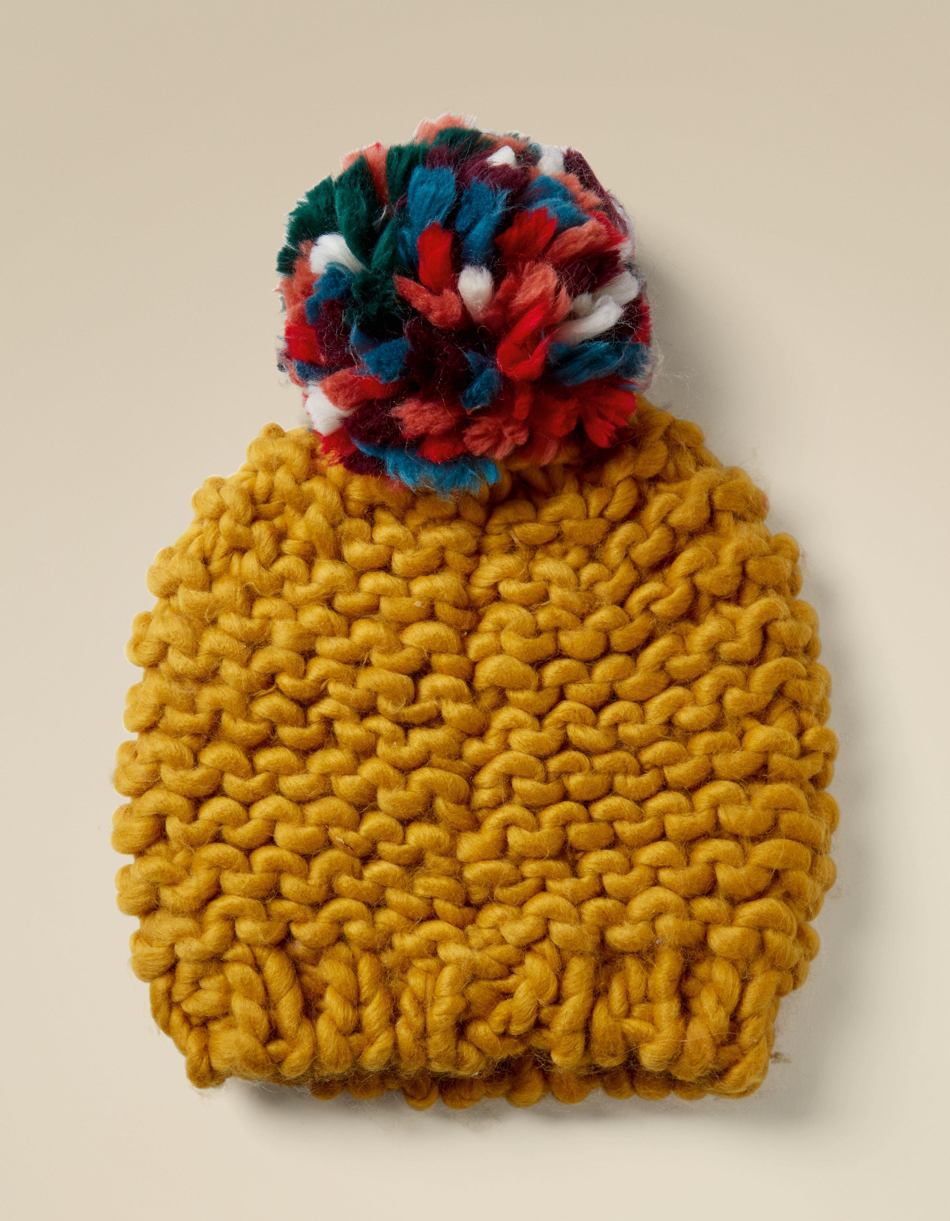 Mustard Chunky Knit Beanie 353f014ba0d