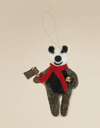 Felt Badger Decoration