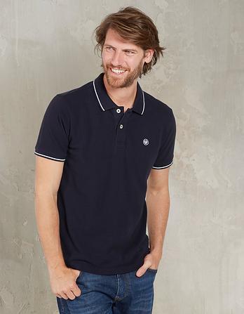 Linton Organic Cotton Tipped Pique Polo