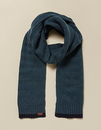Zig Zag Knit Scarf
