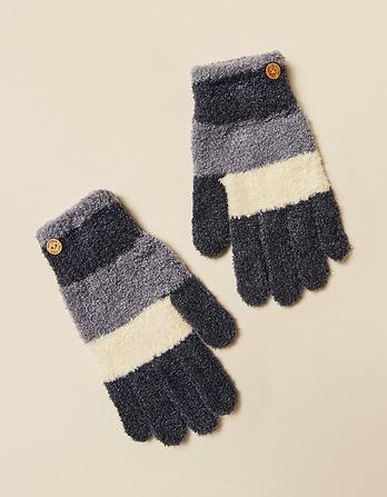 Chenille Stripe Gloves