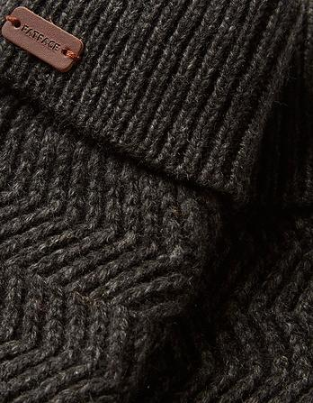 Zig Zag Knit Gloves