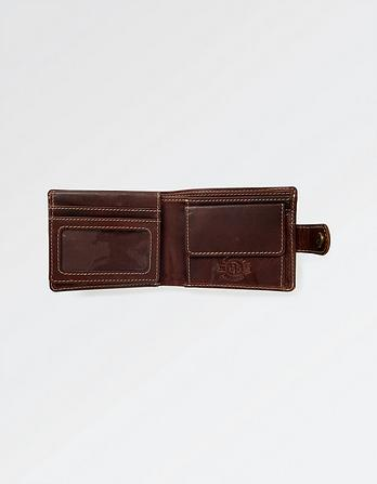 Charlie Contrast Stitch Leather Wallet