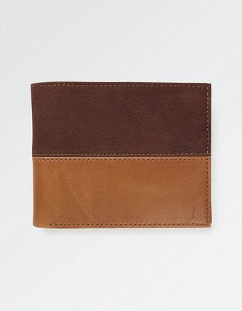 Connor Color Block Leather Wallet