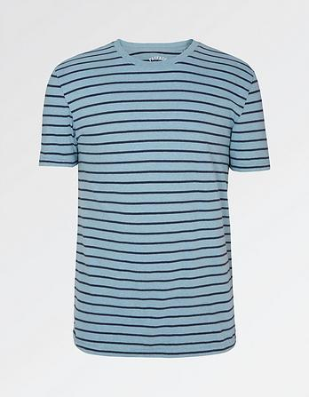 Hawnby Stripe Organic Cotton T-Shirt