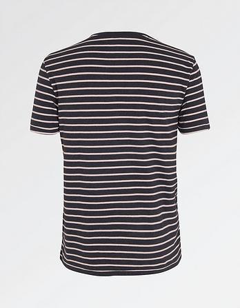 Hawnby Stripe Organic Cotton Crew Neck T-Shirt