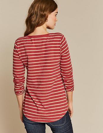 Organic Cotton Lurex Breton T-Shirt