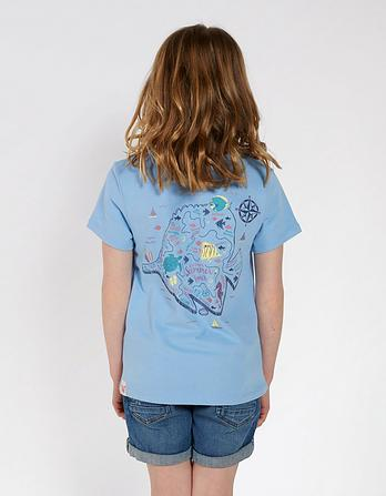 Sea Creatures Map T-Shirt