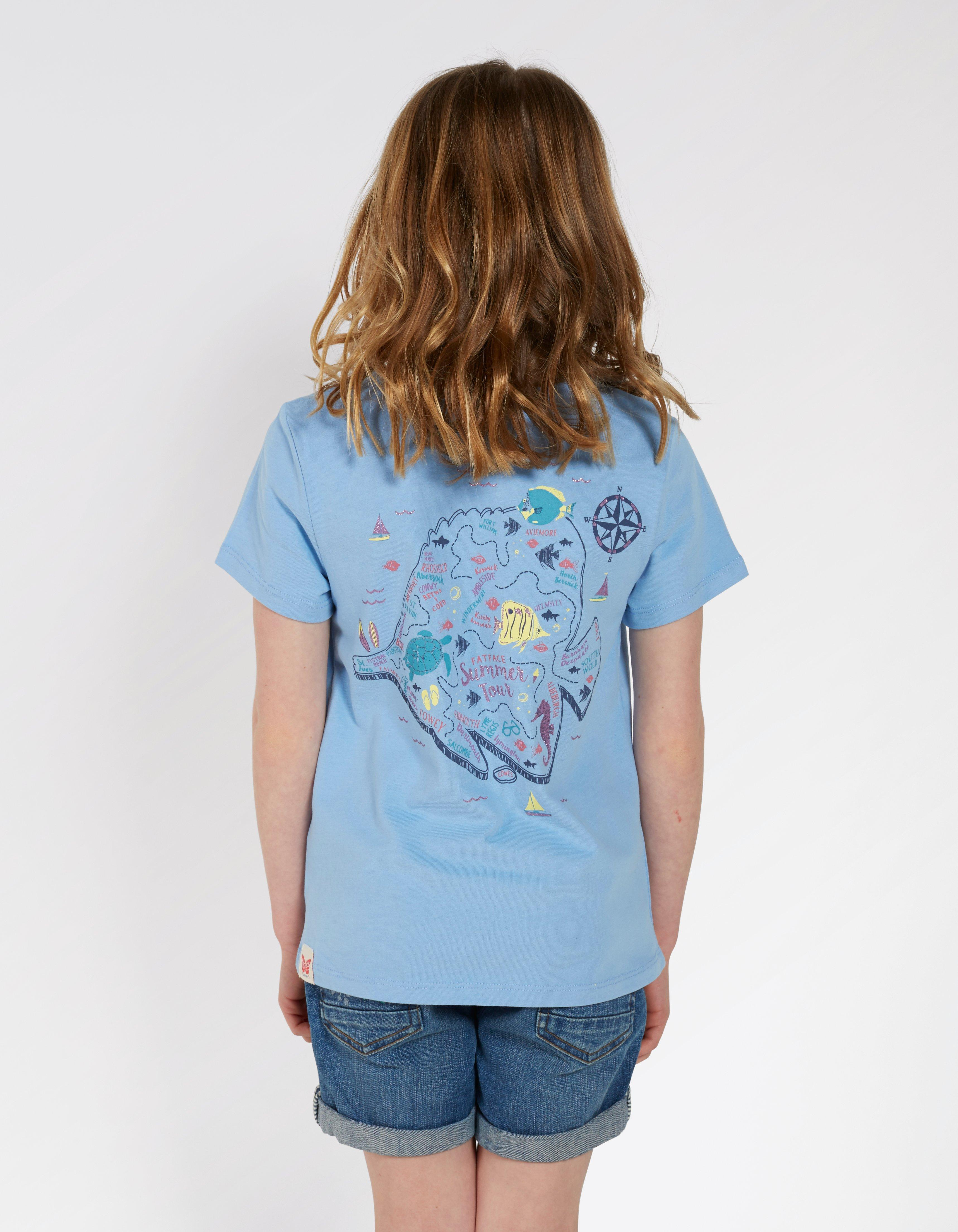 Sea Creatures Map T-Shirt